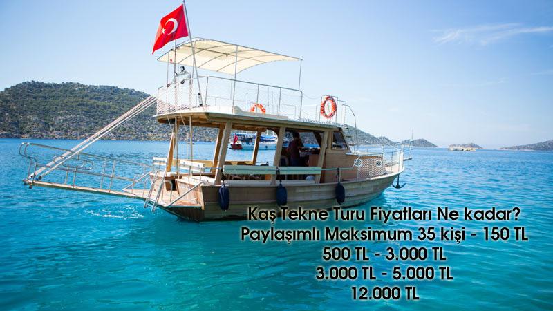 Kaş Tekne Turu Fiyatları Ne kadar